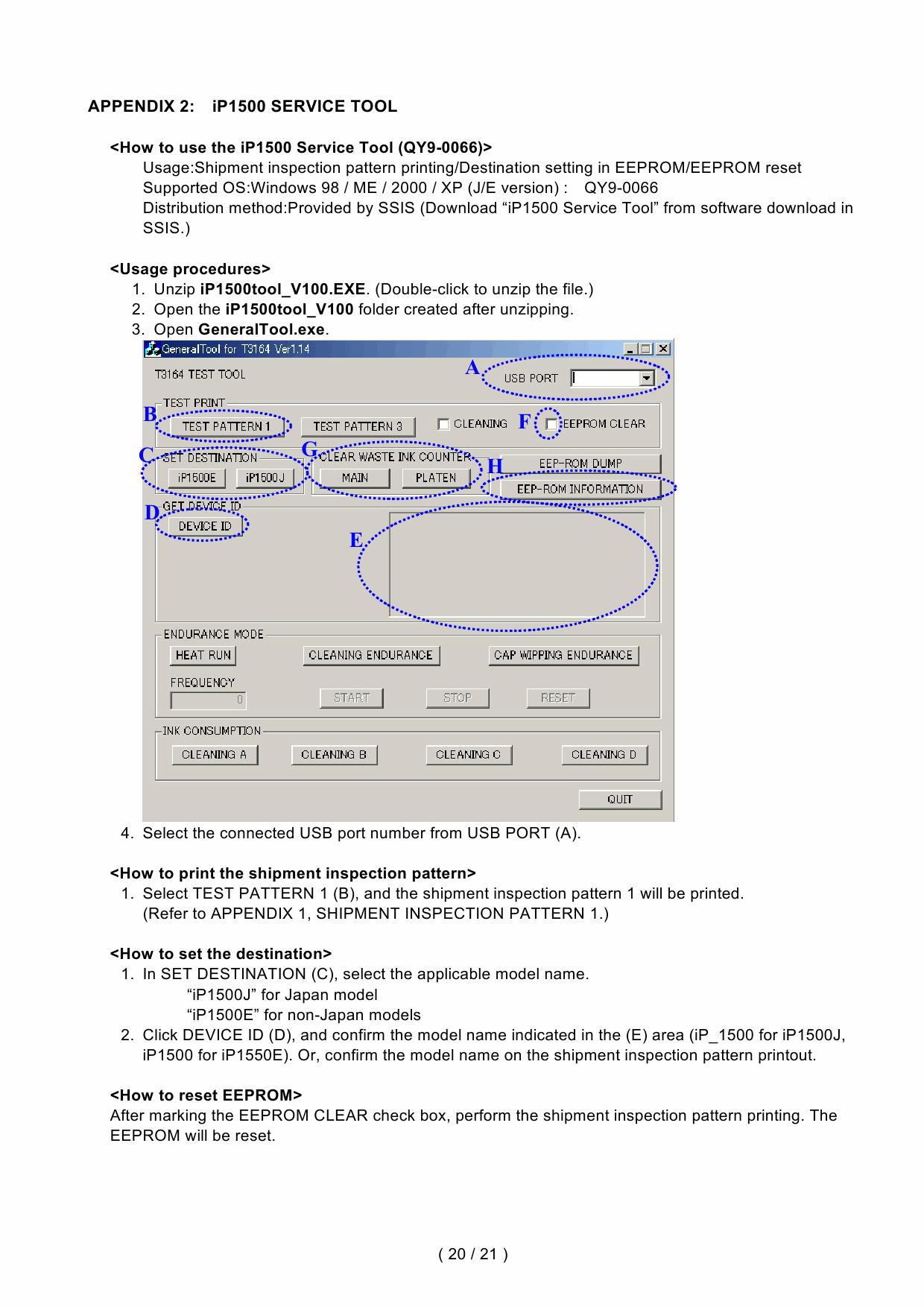 Canon Pixma Ip1500 Service Manual